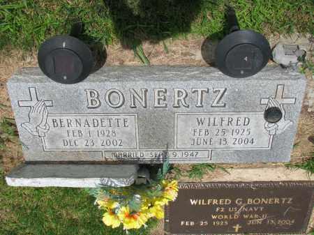 BONERTZ, WILFRED - Cedar County, Nebraska | WILFRED BONERTZ - Nebraska Gravestone Photos
