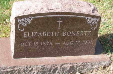 BONERTZ, ELIZABETH - Cedar County, Nebraska | ELIZABETH BONERTZ - Nebraska Gravestone Photos