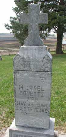 BONERTZ, MICHAEL - Cedar County, Nebraska   MICHAEL BONERTZ - Nebraska Gravestone Photos