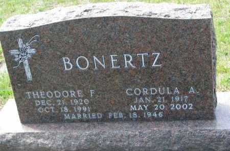 BONERTZ, THEODORE F. - Cedar County, Nebraska | THEODORE F. BONERTZ - Nebraska Gravestone Photos