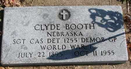BOOTH, CLYDE - Cedar County, Nebraska | CLYDE BOOTH - Nebraska Gravestone Photos