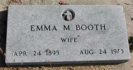 BOOTH, EMMA M. - Cedar County, Nebraska | EMMA M. BOOTH - Nebraska Gravestone Photos