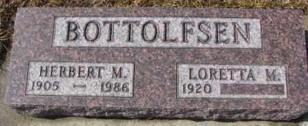 BOTTOLFSEN, HERBERT M. - Cedar County, Nebraska | HERBERT M. BOTTOLFSEN - Nebraska Gravestone Photos