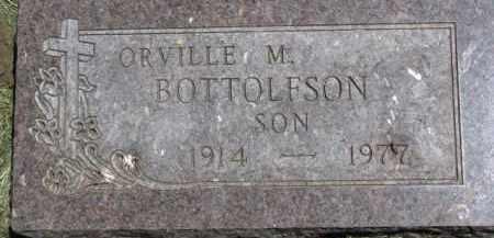BOTTOLFSON, ORVILLE M. - Cedar County, Nebraska | ORVILLE M. BOTTOLFSON - Nebraska Gravestone Photos
