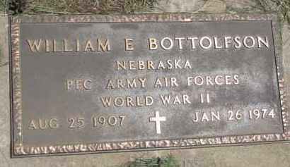 BOTTOLFSON, WILLIAM E.  (WW II MARKER) - Cedar County, Nebraska   WILLIAM E.  (WW II MARKER) BOTTOLFSON - Nebraska Gravestone Photos