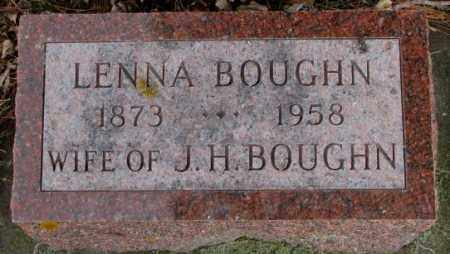 BOUGHN, LENNA - Cedar County, Nebraska | LENNA BOUGHN - Nebraska Gravestone Photos