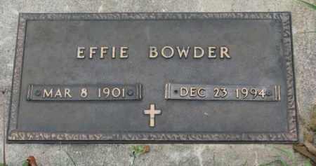 BOWDER, EFFIE - Cedar County, Nebraska   EFFIE BOWDER - Nebraska Gravestone Photos