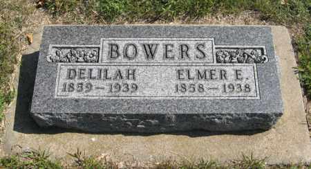 BOWERS, ELMER E. - Cedar County, Nebraska | ELMER E. BOWERS - Nebraska Gravestone Photos