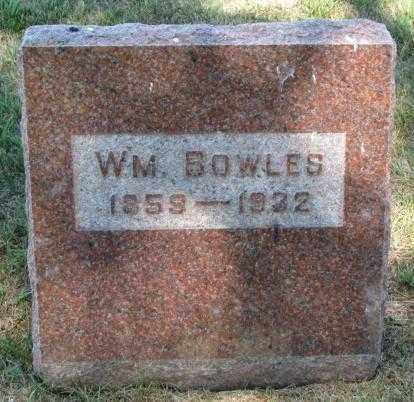 BOWLES, WM. - Cedar County, Nebraska | WM. BOWLES - Nebraska Gravestone Photos