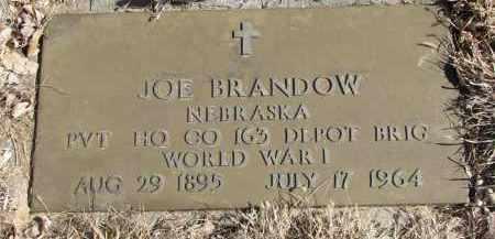 BRANDOW, JOE - Cedar County, Nebraska | JOE BRANDOW - Nebraska Gravestone Photos