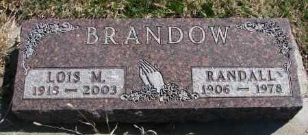 BRANDOW, LOIS M. - Cedar County, Nebraska   LOIS M. BRANDOW - Nebraska Gravestone Photos