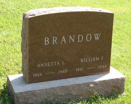 BRANDOW, WILLIAM F. - Cedar County, Nebraska   WILLIAM F. BRANDOW - Nebraska Gravestone Photos