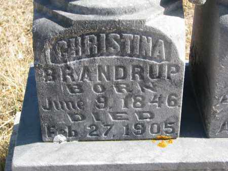 BRANDRUP, CHRISTINA (CLOSEUP) - Cedar County, Nebraska | CHRISTINA (CLOSEUP) BRANDRUP - Nebraska Gravestone Photos