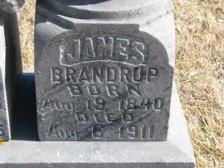 BRANDRUP, JAMES (CLOSEUP) - Cedar County, Nebraska   JAMES (CLOSEUP) BRANDRUP - Nebraska Gravestone Photos
