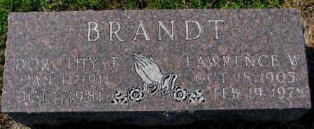 BRANDT, LAWRENCE W. - Cedar County, Nebraska | LAWRENCE W. BRANDT - Nebraska Gravestone Photos