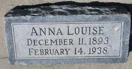 BRAUER, ANNA LOUISE - Cedar County, Nebraska | ANNA LOUISE BRAUER - Nebraska Gravestone Photos
