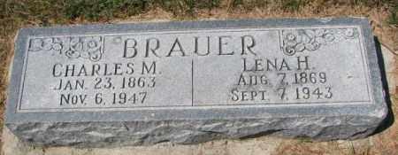 BRAUER, CHARLES M. - Cedar County, Nebraska | CHARLES M. BRAUER - Nebraska Gravestone Photos