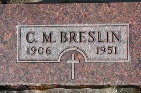 BRESLIN, C.M. - Cedar County, Nebraska   C.M. BRESLIN - Nebraska Gravestone Photos