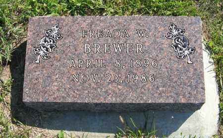BREWER, FREADA W. - Cedar County, Nebraska | FREADA W. BREWER - Nebraska Gravestone Photos
