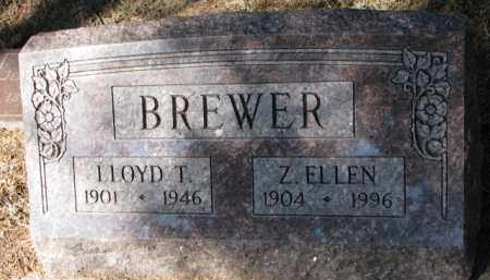 BREWER, Z. ELLEN - Cedar County, Nebraska   Z. ELLEN BREWER - Nebraska Gravestone Photos