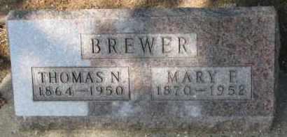 BREWER, THOMAS N. - Cedar County, Nebraska | THOMAS N. BREWER - Nebraska Gravestone Photos
