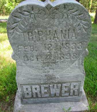 BREWER, TRIPHANIA - Cedar County, Nebraska | TRIPHANIA BREWER - Nebraska Gravestone Photos