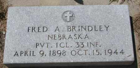 BRINDLEY, FRED A. (WW II) - Cedar County, Nebraska | FRED A. (WW II) BRINDLEY - Nebraska Gravestone Photos