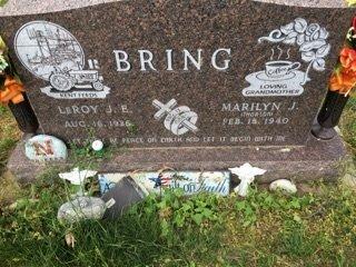 THORSON BRING, MARILYN J - Cedar County, Nebraska | MARILYN J THORSON BRING - Nebraska Gravestone Photos