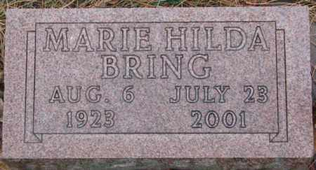 BRING, MARIE HILDA - Cedar County, Nebraska | MARIE HILDA BRING - Nebraska Gravestone Photos