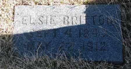 BRITTON, ELSIE - Cedar County, Nebraska   ELSIE BRITTON - Nebraska Gravestone Photos