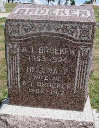 BROEKER, HELENA F. - Cedar County, Nebraska | HELENA F. BROEKER - Nebraska Gravestone Photos