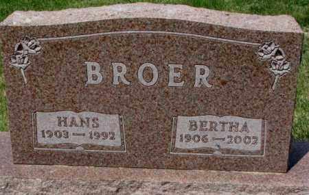 BROER, HANS - Cedar County, Nebraska | HANS BROER - Nebraska Gravestone Photos