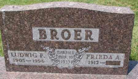BROER, LUDWIG F. - Cedar County, Nebraska | LUDWIG F. BROER - Nebraska Gravestone Photos