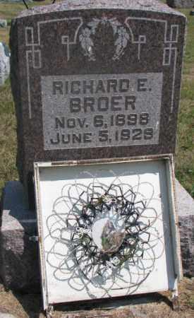BROER, RICHARD E. - Cedar County, Nebraska   RICHARD E. BROER - Nebraska Gravestone Photos