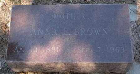 BROWN, ANNA E. - Cedar County, Nebraska   ANNA E. BROWN - Nebraska Gravestone Photos