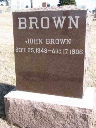 BROWN, JOHN - Cedar County, Nebraska | JOHN BROWN - Nebraska Gravestone Photos