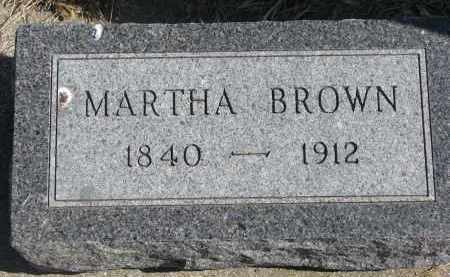 BROWN, MARTHA - Cedar County, Nebraska | MARTHA BROWN - Nebraska Gravestone Photos
