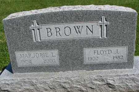 BROWN, MARJORIE L. - Cedar County, Nebraska   MARJORIE L. BROWN - Nebraska Gravestone Photos