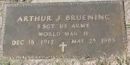 BRUENING, ARTHUR J. (WW II) - Cedar County, Nebraska | ARTHUR J. (WW II) BRUENING - Nebraska Gravestone Photos