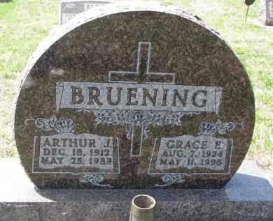 BRUENING, ARTHUR J. - Cedar County, Nebraska | ARTHUR J. BRUENING - Nebraska Gravestone Photos