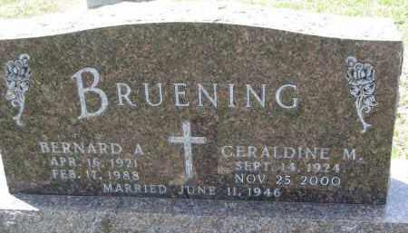 BRUENING, GERALDINE M. - Cedar County, Nebraska | GERALDINE M. BRUENING - Nebraska Gravestone Photos