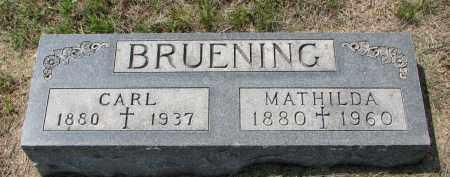 BRUENING, CARL - Cedar County, Nebraska | CARL BRUENING - Nebraska Gravestone Photos