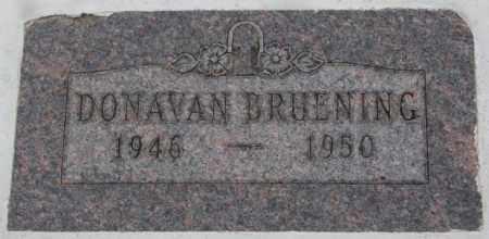 BRUENING, DONAVAN - Cedar County, Nebraska | DONAVAN BRUENING - Nebraska Gravestone Photos
