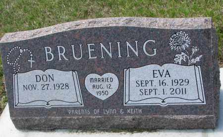 BRUENING, EVA - Cedar County, Nebraska | EVA BRUENING - Nebraska Gravestone Photos