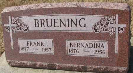 BRUENING, FRANK - Cedar County, Nebraska | FRANK BRUENING - Nebraska Gravestone Photos
