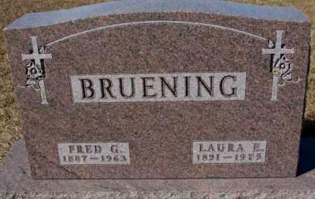 BRUENING, LAURA E. - Cedar County, Nebraska | LAURA E. BRUENING - Nebraska Gravestone Photos