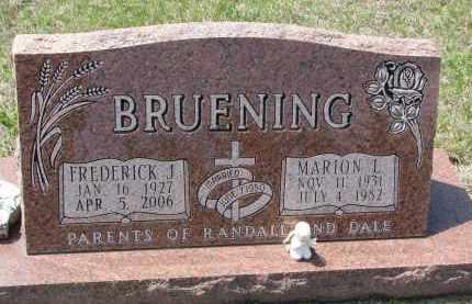 BRUENING, FREDERICK J. - Cedar County, Nebraska | FREDERICK J. BRUENING - Nebraska Gravestone Photos