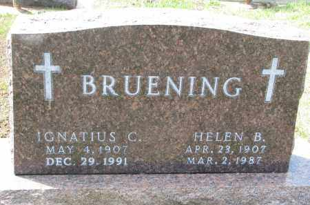 BRUENING, IGNATIUS C. - Cedar County, Nebraska | IGNATIUS C. BRUENING - Nebraska Gravestone Photos