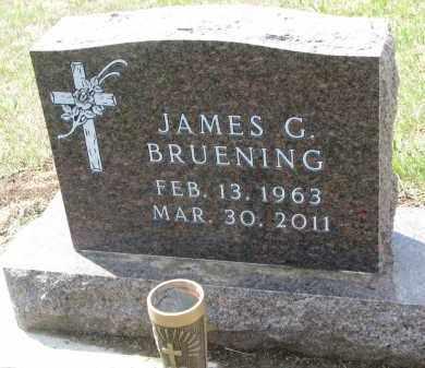 BRUENING, JAMES G. - Cedar County, Nebraska   JAMES G. BRUENING - Nebraska Gravestone Photos