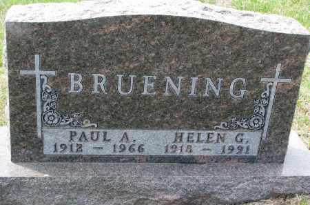 BRUENING, HELEN G. - Cedar County, Nebraska | HELEN G. BRUENING - Nebraska Gravestone Photos